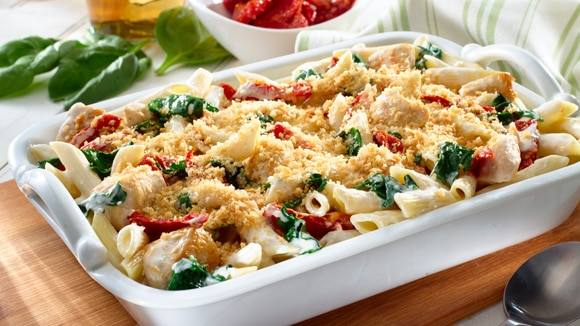 Chicken & Pasta Florentine Casserole
