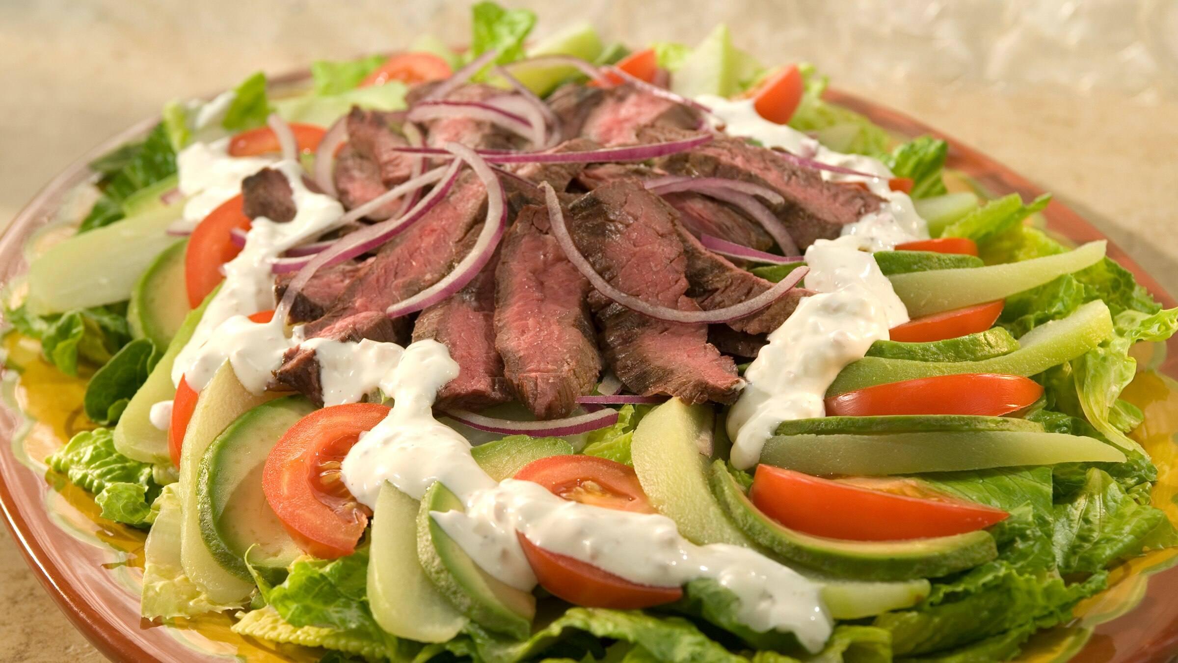 Chayote & Skirt Steak Salad Recipe