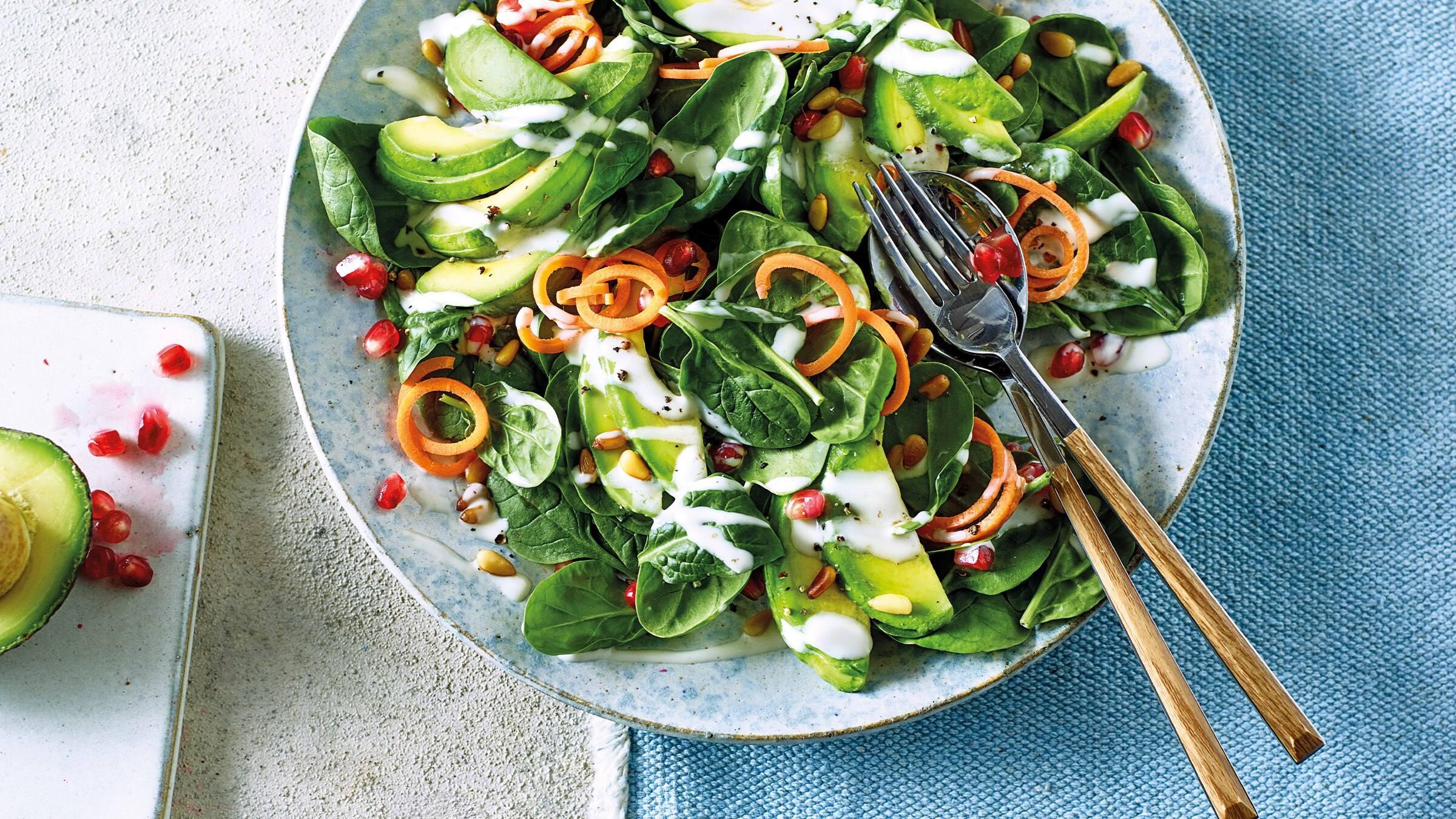 Avocado & Pomegranate Seed Salad Recipe