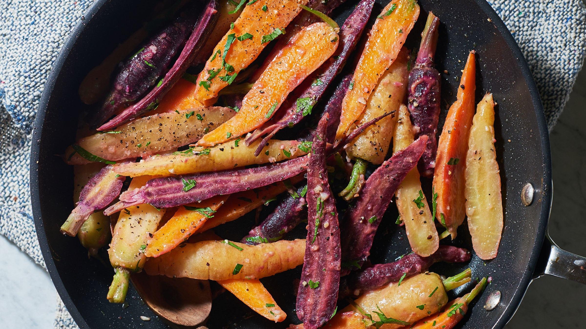 Zanahorias con miel y mostaza Dijon