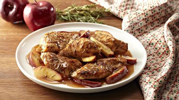 Roast Apple Chicken Recipe with Cinnamon Glaze