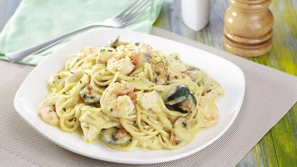 Seafood Curry Spaghetti Recipe