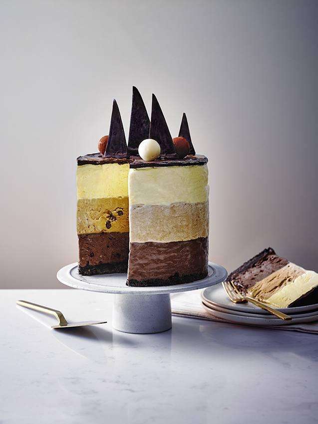 Mocha Ombré Ice Cream Layer Cake
