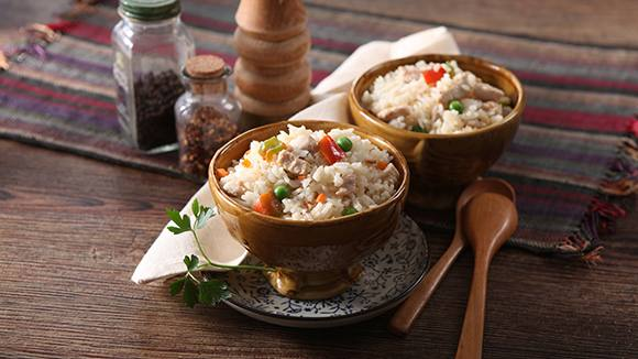 Fried Rice Chicken Gata Recipe