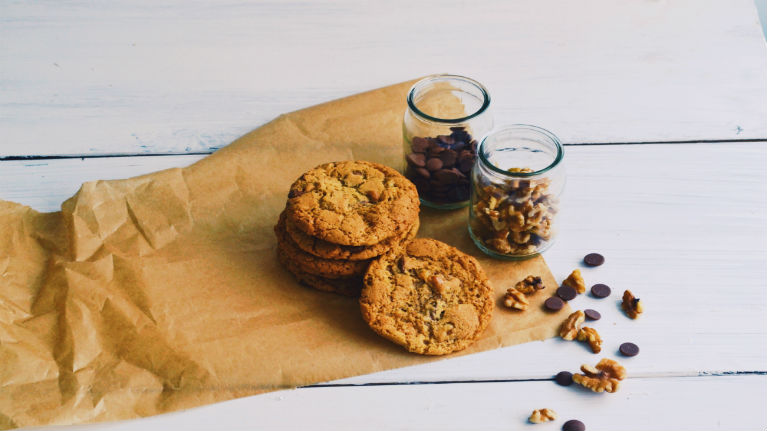 Dairy Free Chocolate Chip and Walnut Cookies