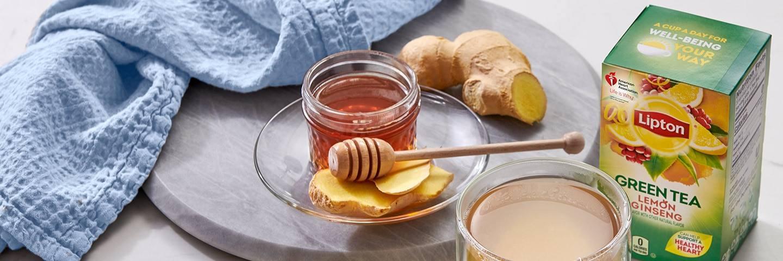 Honey Lemon Ginger Ginseng Green Tea
