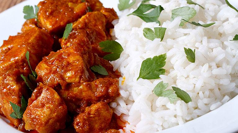 how to make butter chicken and rice