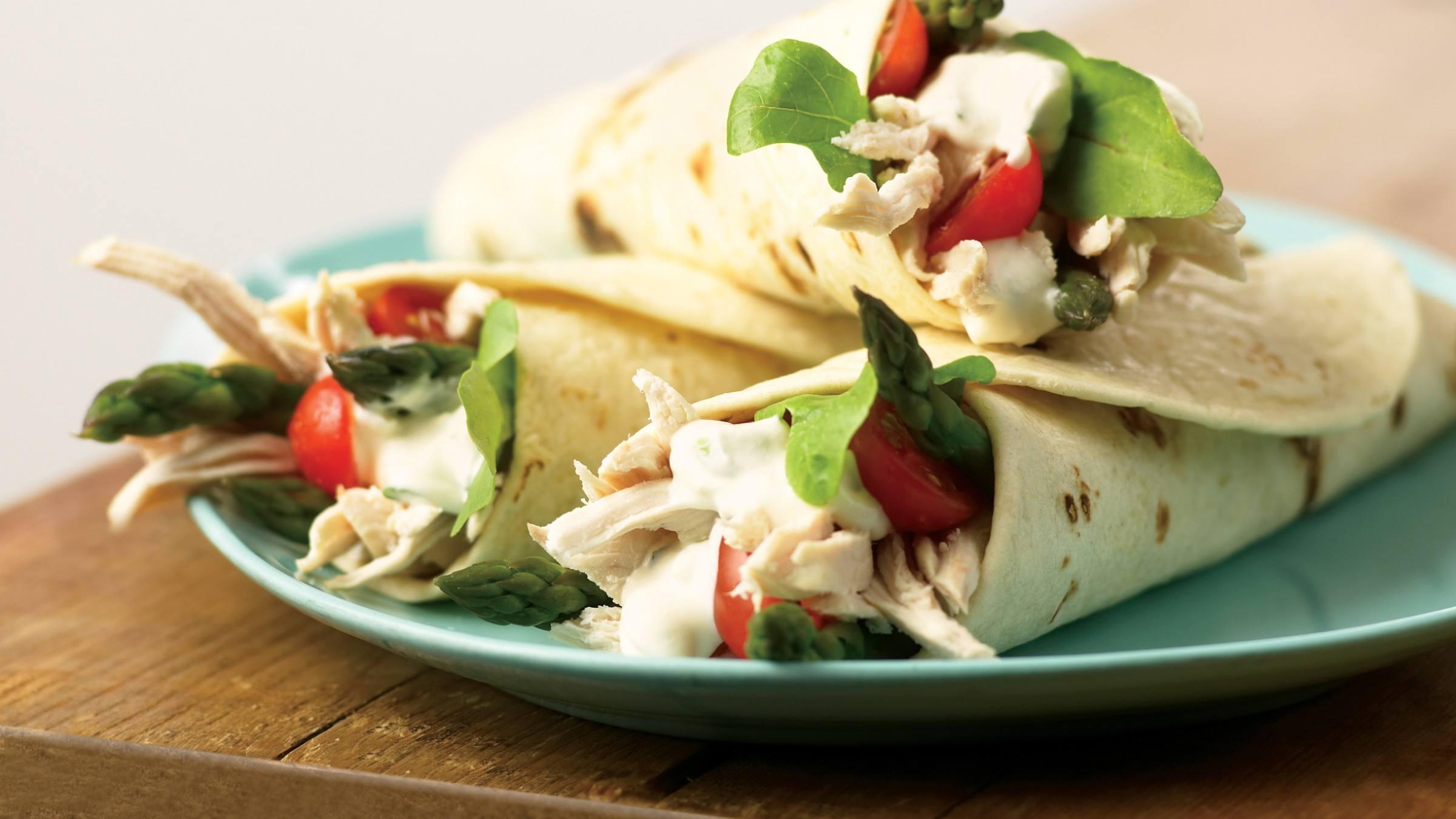 Chicken & Asparagus Wraps Recipe