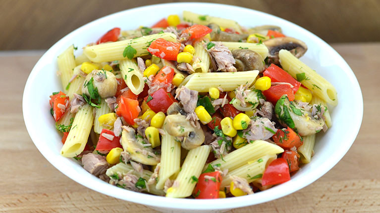 Pasta Tossed with Tuna and Fresh Herbs