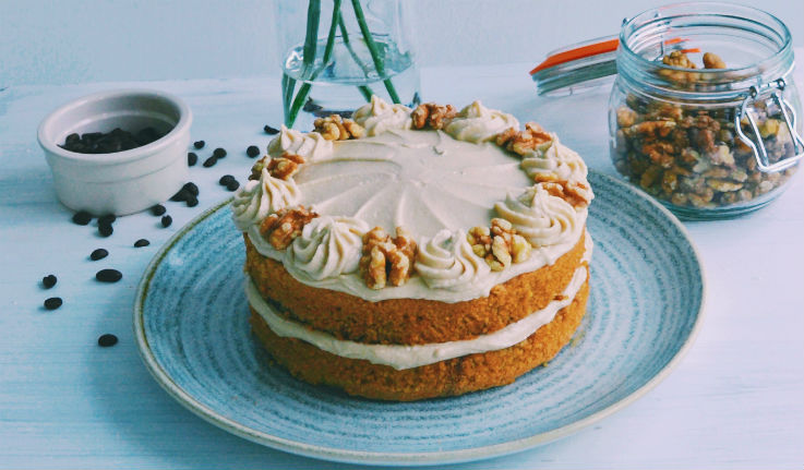 Dairy Free Coffee & Walnut Cake