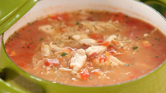 рецепт томатного супа с курицей