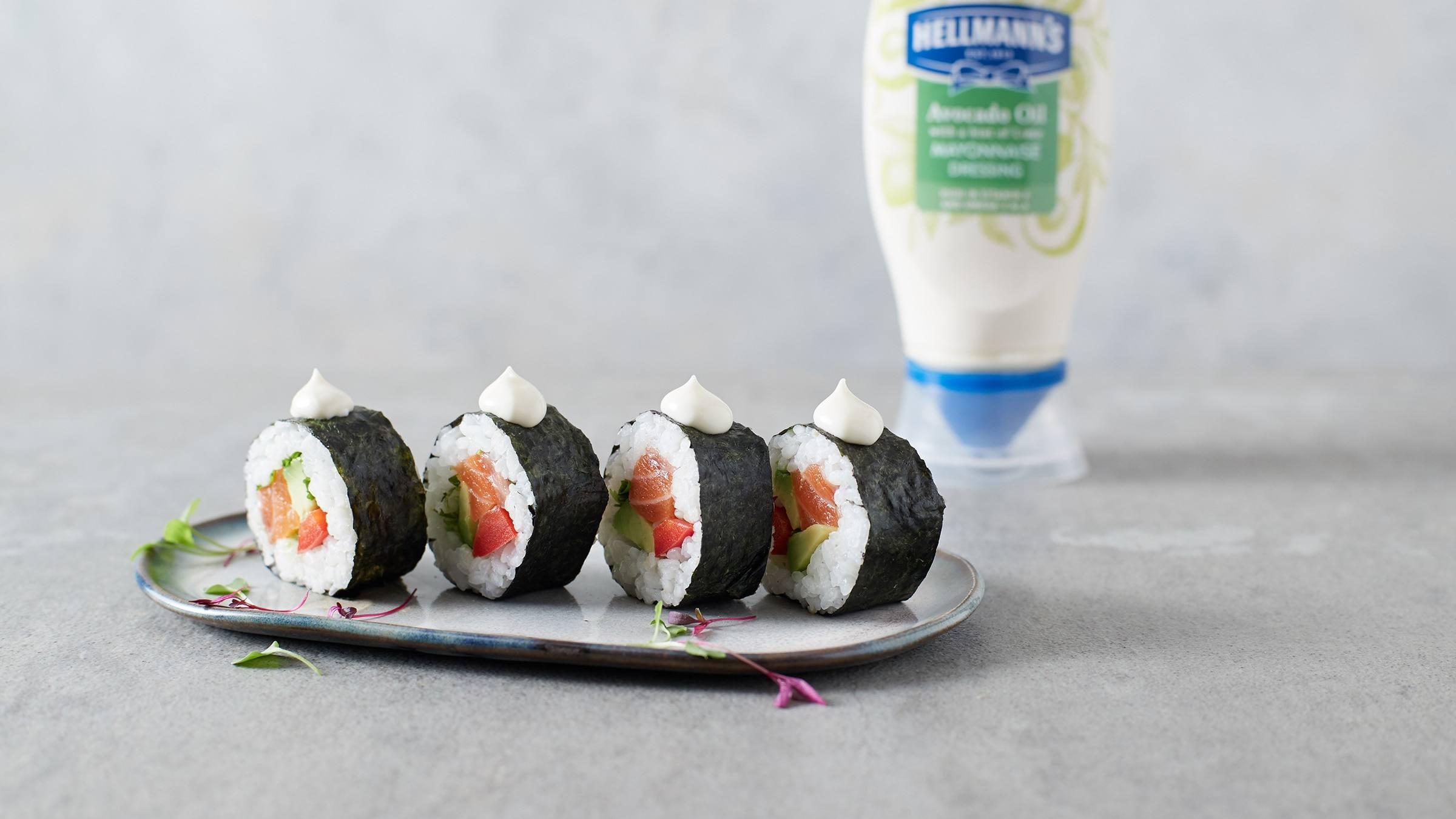Salmon & Avocado Sushi Rolls