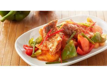 ผัดเปรี้ยวหวานปลาทอด