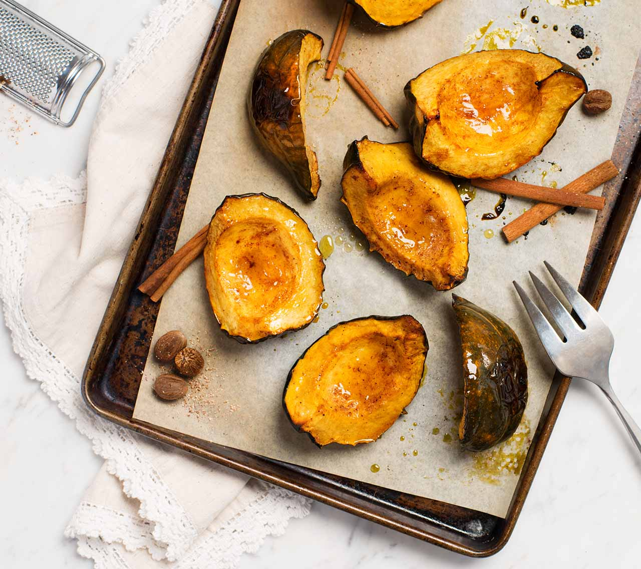 Roasted Squash with Sugar & Spice