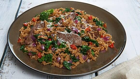 Balsamic Beef & Broccoli Rabe