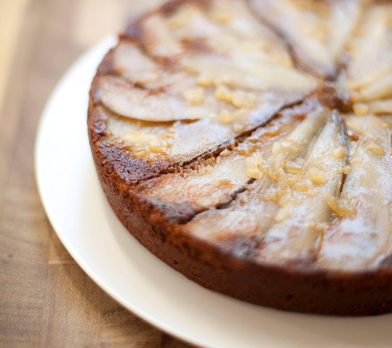 Pear-Ginger Upside Down Cake
