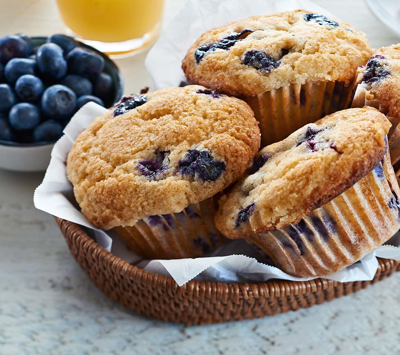 Gluten Free Blueberry Buttermilk Muffins