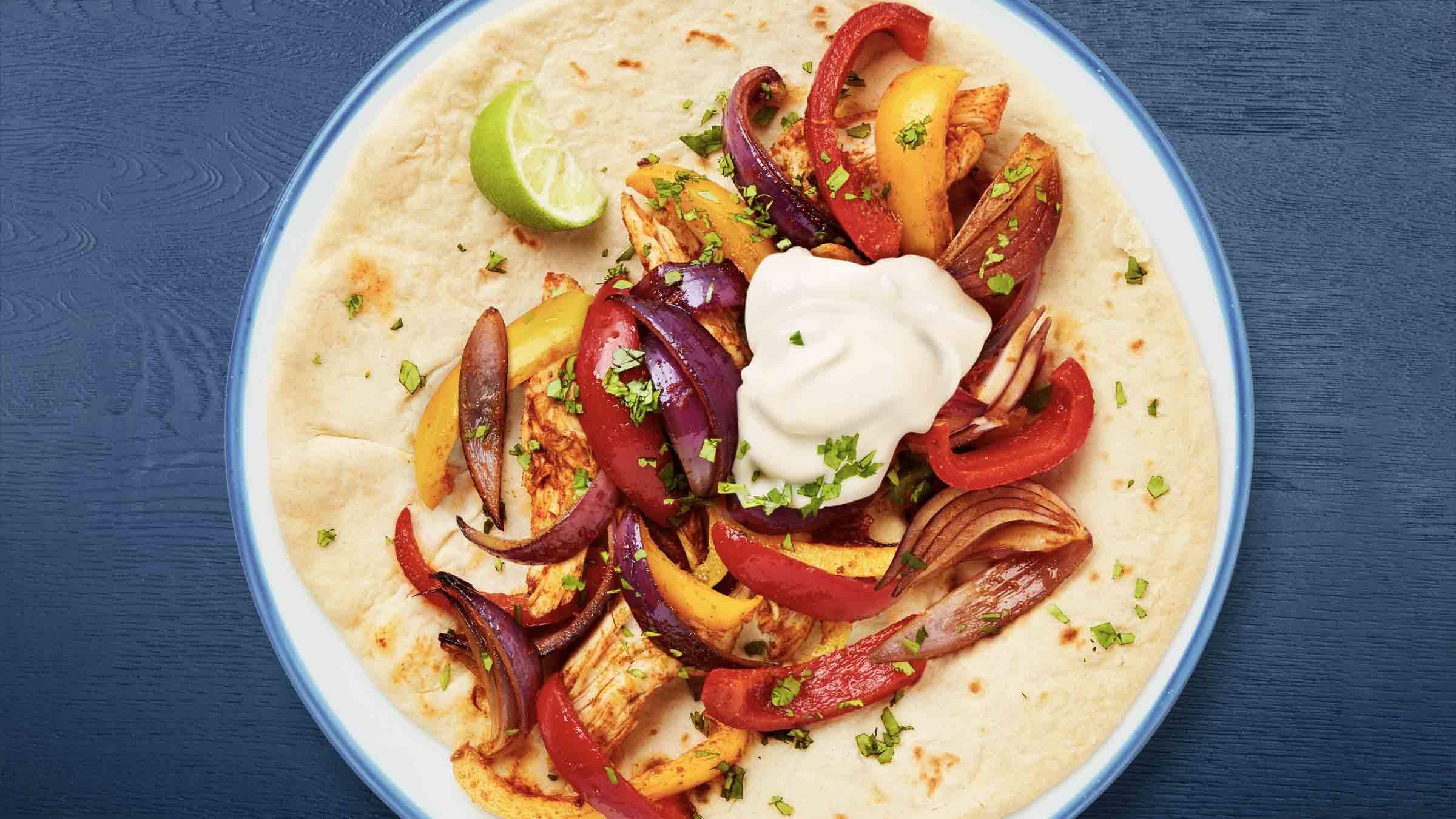 Quick & Easy Spicy Pepper & Chicken  Wrap Recipe