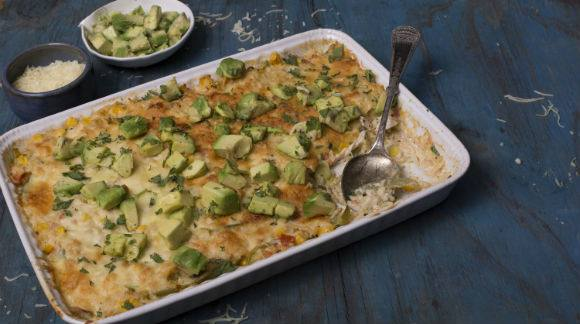 Creamy Baked Queso Rice