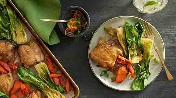 Orange Sesame Chicken Sheet Pan Dinner