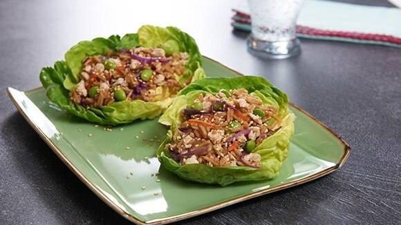Teriyaki Chicken & Rice Lettuce Wraps