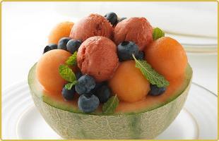 Coupe melon fraise