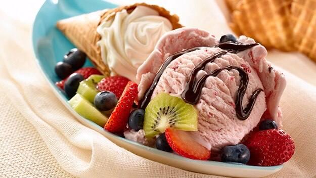 Fruit 'N Cream Sundae Cones