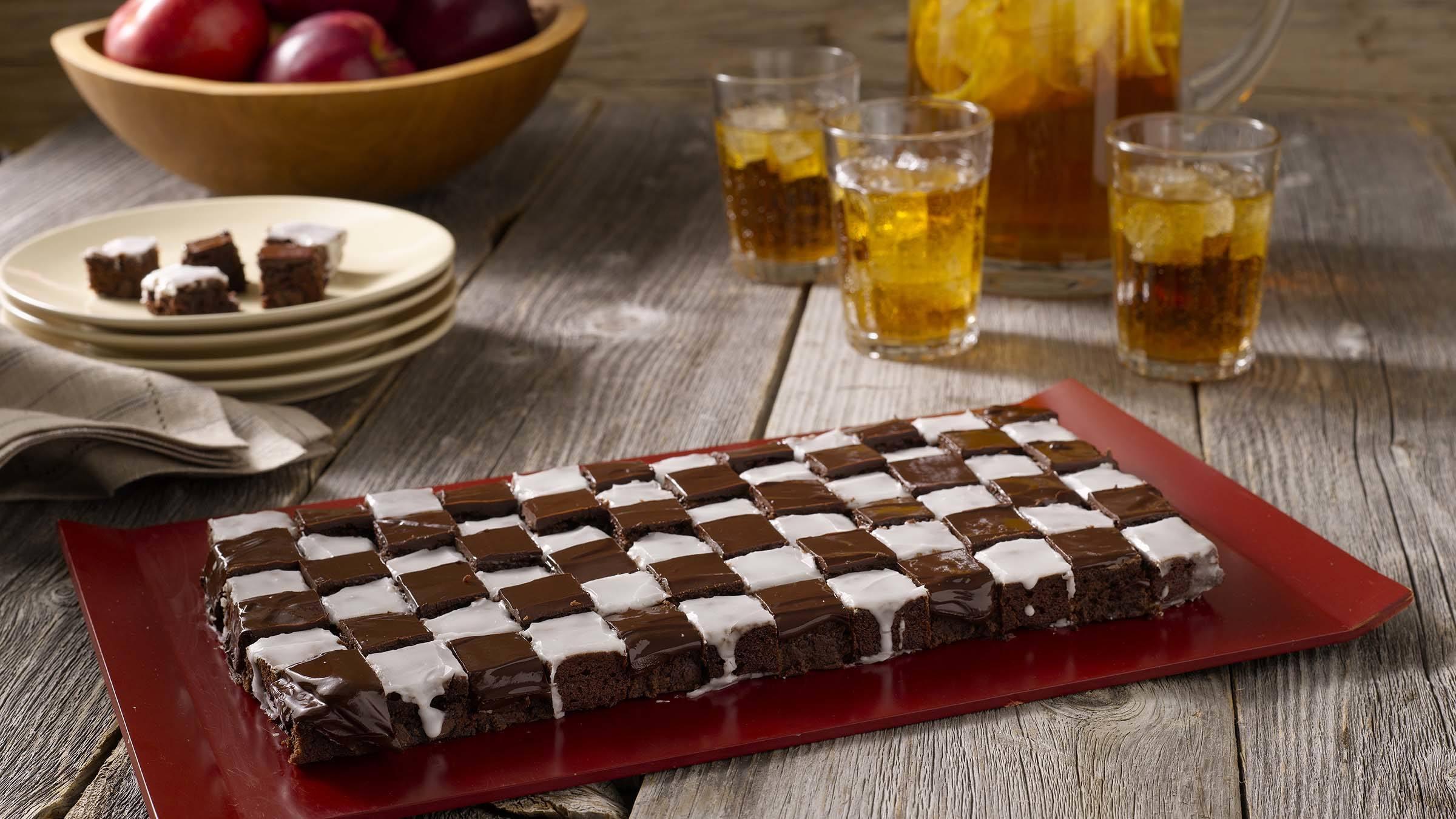 Checkered Flag Fudgy Bites Recipe