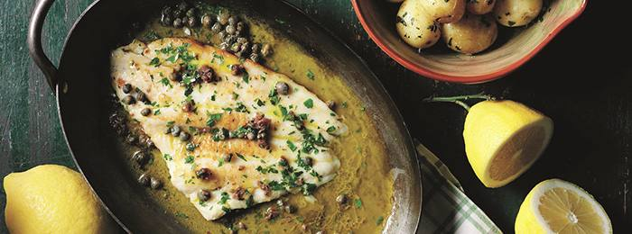 Italian Plaice Fillets Recipe with Baby Potatoes
