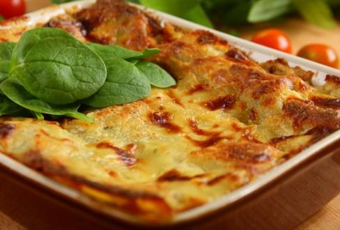Knorr - Lasagne mit Spinat und Pilzen
