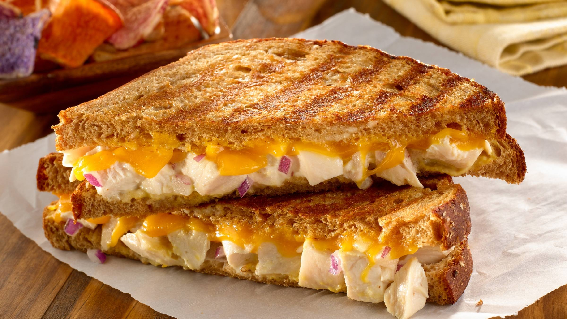 Grilled Chicken Salad Paninis Recipe