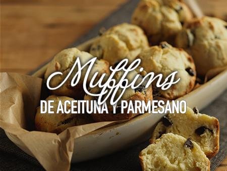 Muffins de aceituna y parmesano al estilo Savora