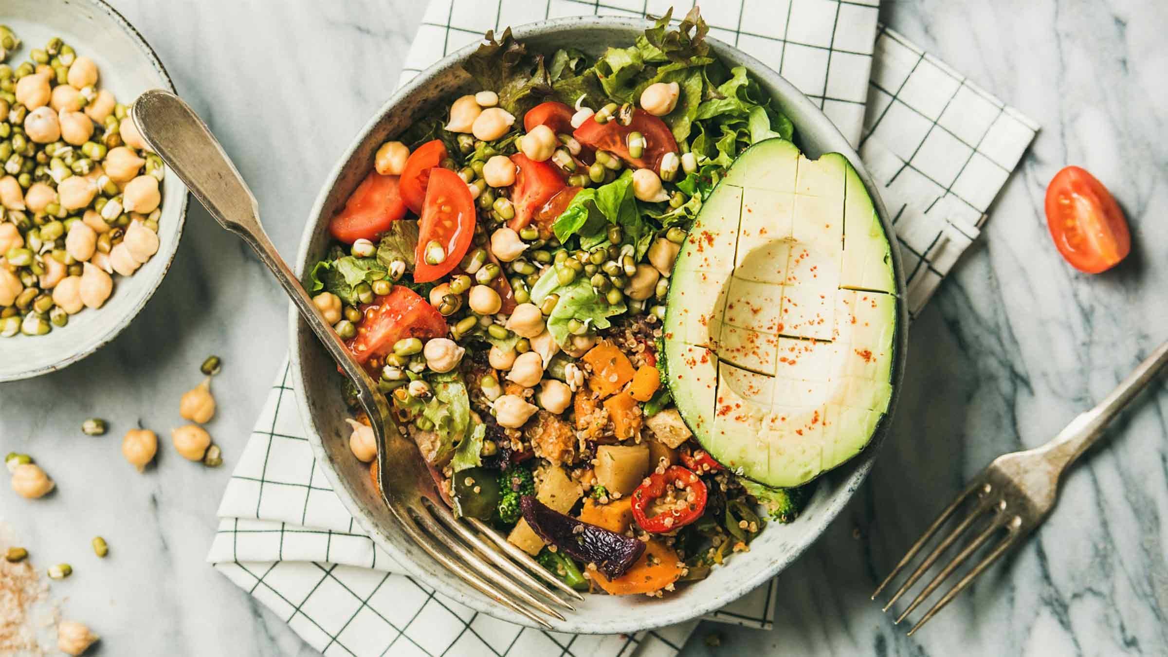 Vegan Grain Bowl with Cilantro Dressing Recipe