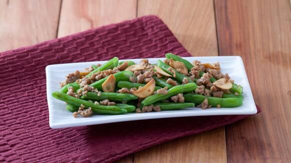 Stir Fried Ground Pork with Beans Recipe