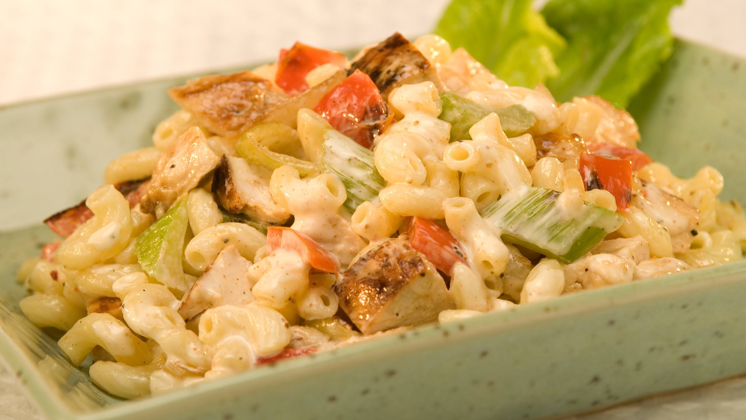 Grilled Chicken Macaroni Salad