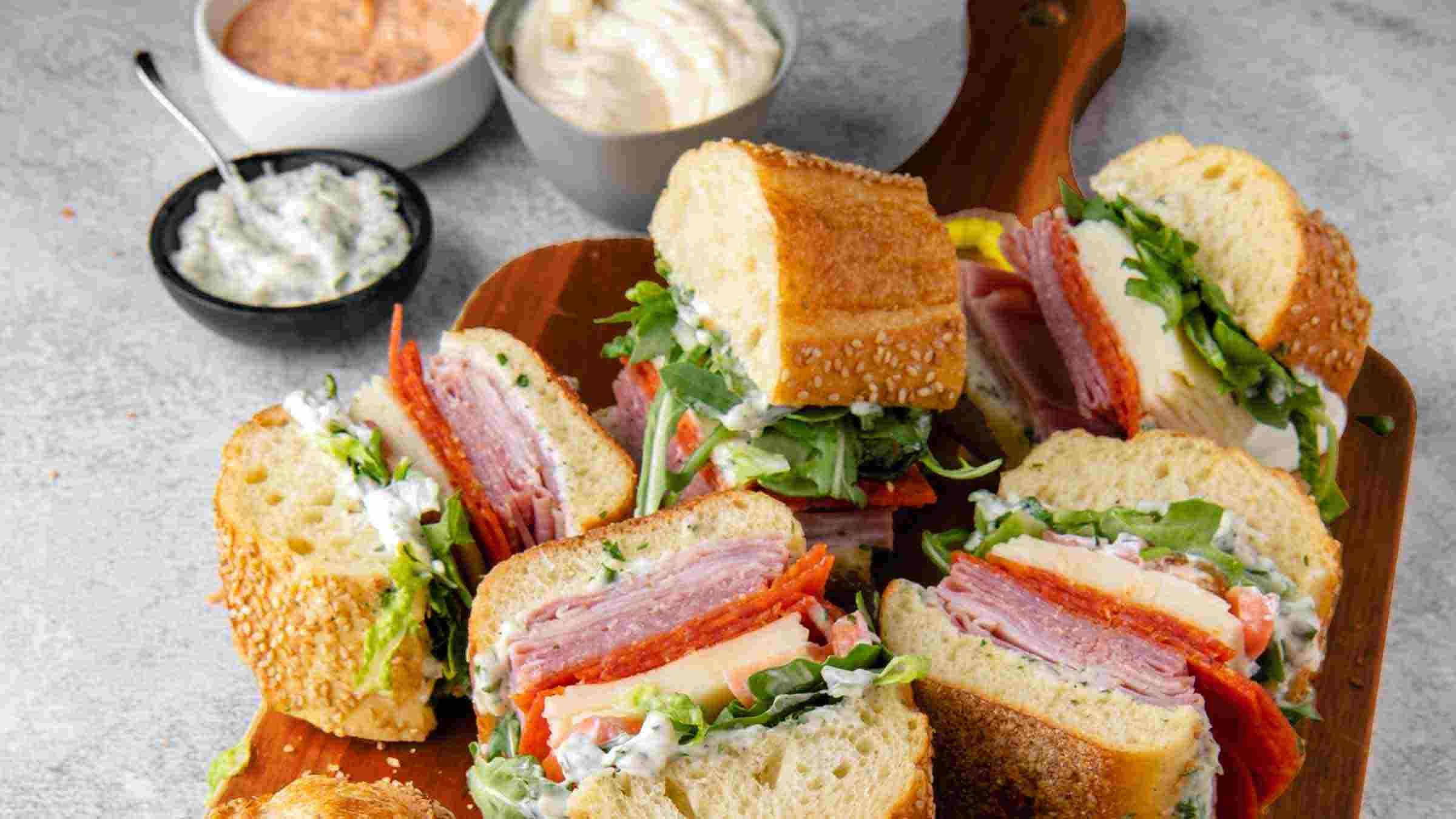 Hellmann's Perfect Game Day  Sub Sandwich