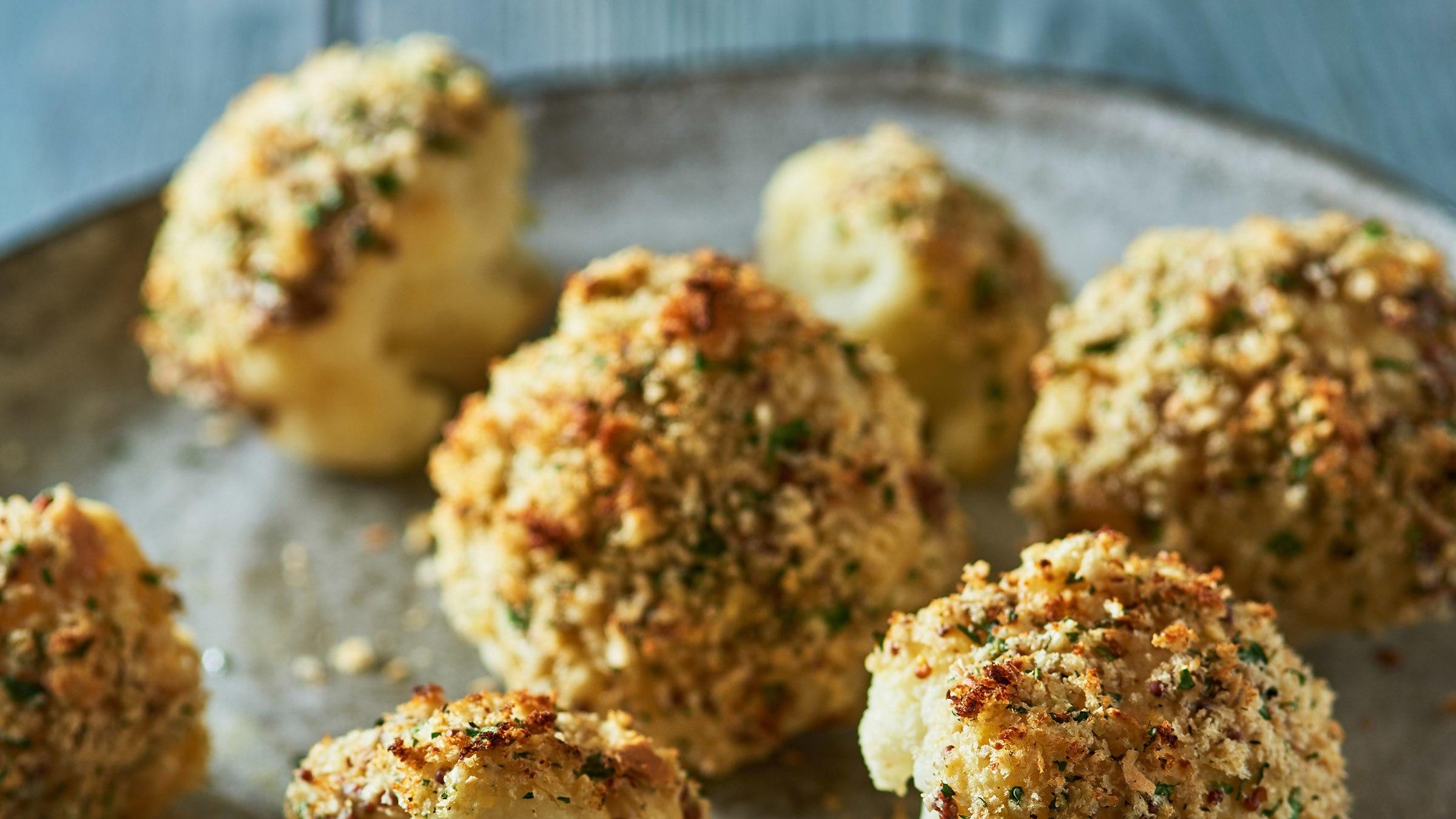 Maille Mustard-Crusted Cauliflower