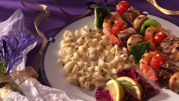 Sweet & Sour Shrimp & Steak Kabobs