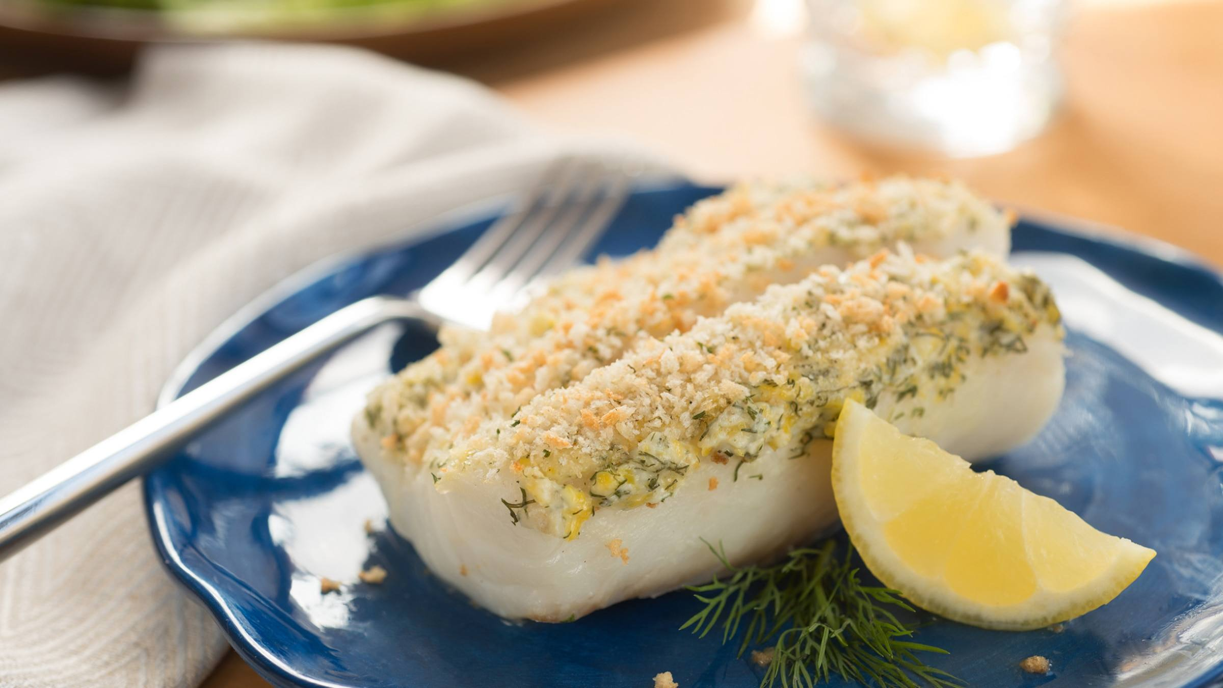 Lemon Dill Crusted Cod Recipe