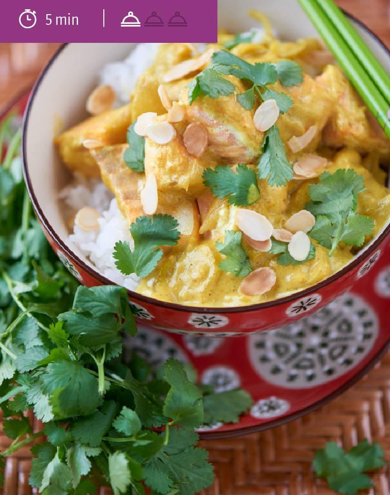 Curry de saumon au lait d'amande