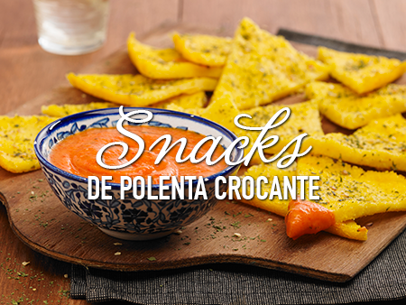 Snacks de polenta crocante al estilo Savora