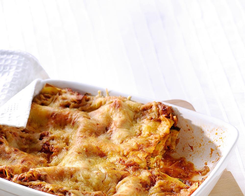 Lasagne met tonijn, courgette en citroen