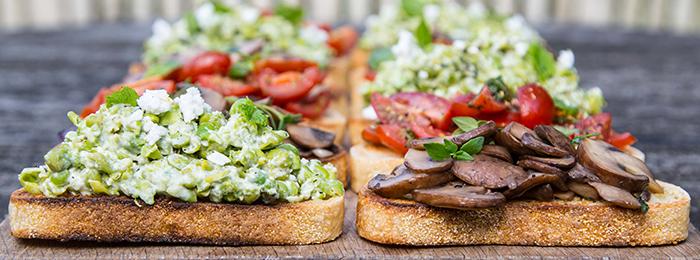Mob Kitchen's Bruschetta 3 ways