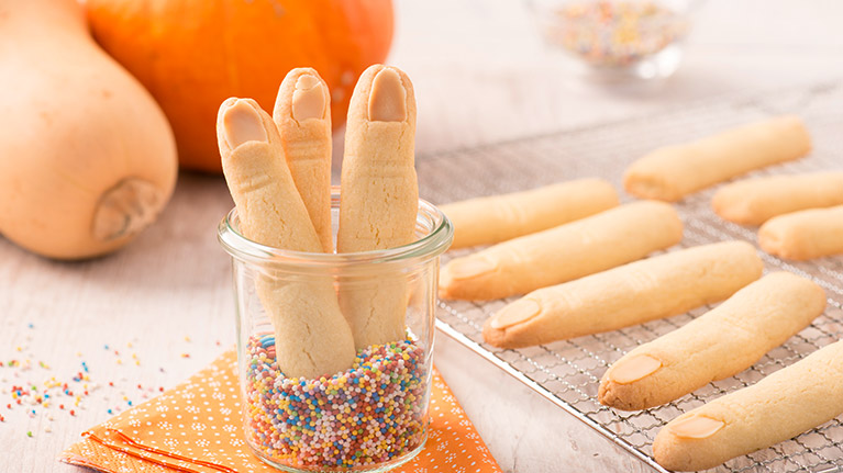 Creepy Finger Biscuits