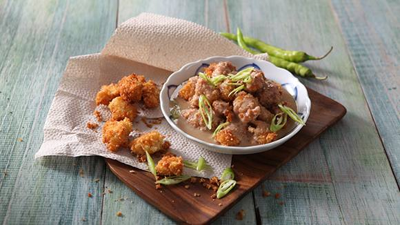 Chicken Poppers with Adobo Gata Sauce Recipe