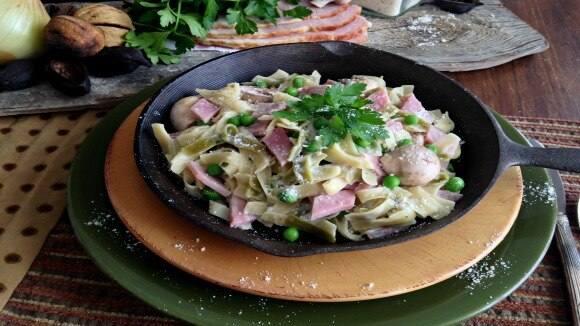 Ham & Peas Parmesan