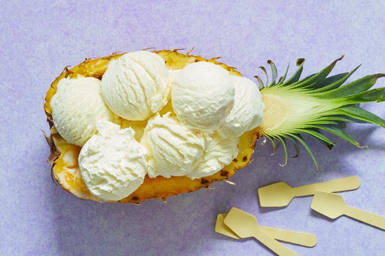 Receptafbeelding voor Toetje met ananas en ijs
