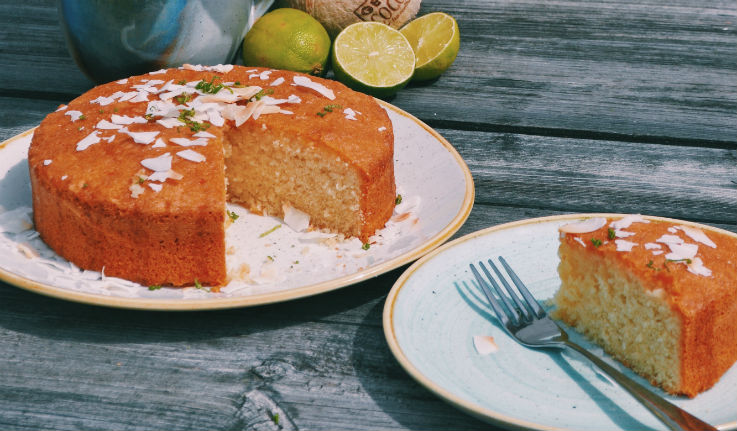Coconut Lime Drizzle Cake