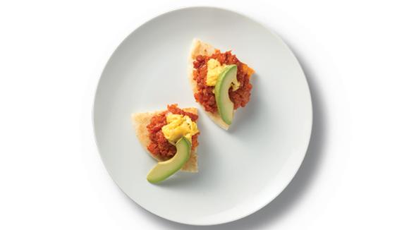 Arepas with Chorizo, Egg and Avocado
