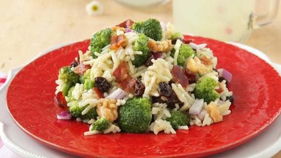 Chilled Summer Broccoli Rice Salad